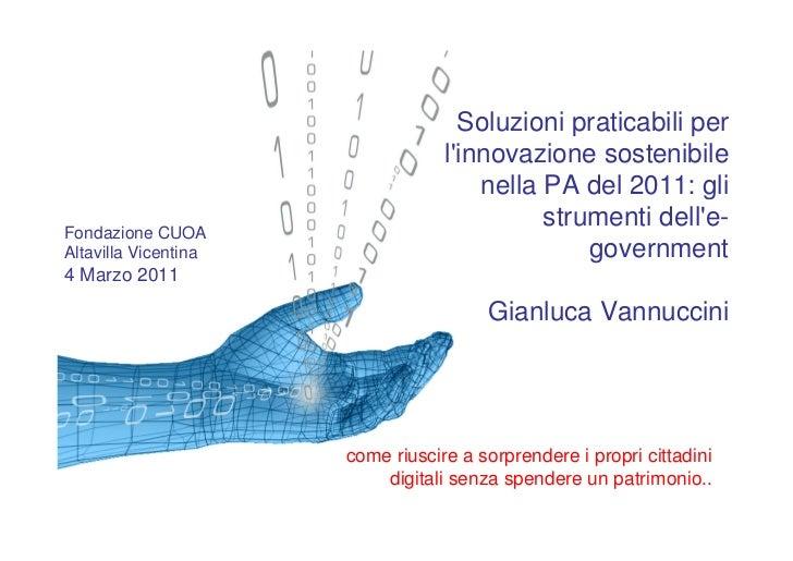 Soluzioni praticabili per                                  linnovazione sostenibile                                      n...