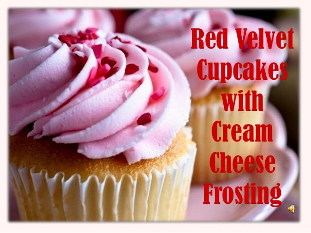Red VelvetCupcakes   with  Cream  Cheese Frosting