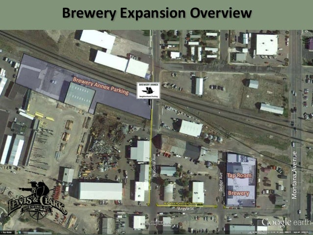 New Sidewalk with ADA Curb Ramps  Argyle St  Tap Room Brewery  Montana Avenue  Dodge Ave  National Ave  Brewery Expansion ...