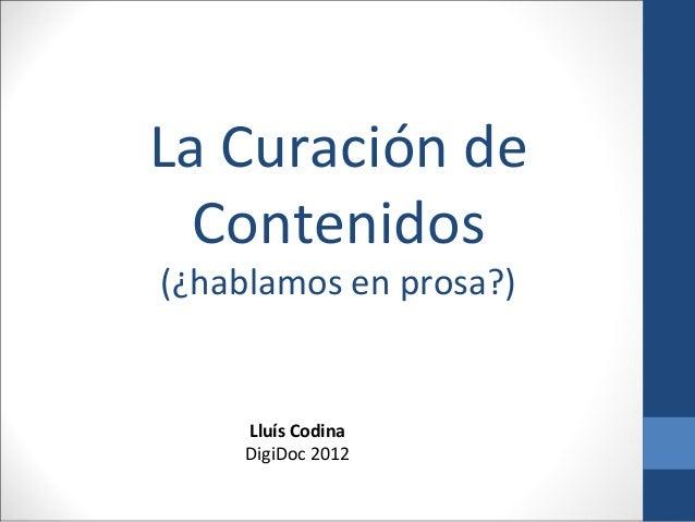 Curacion contenidos 2012