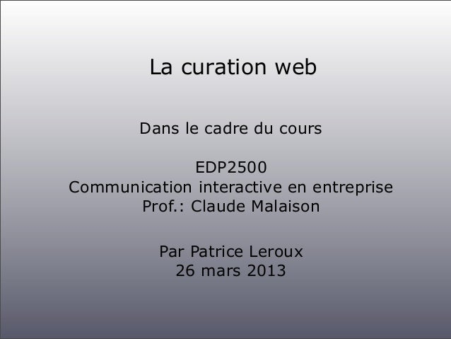 Curation edp2500