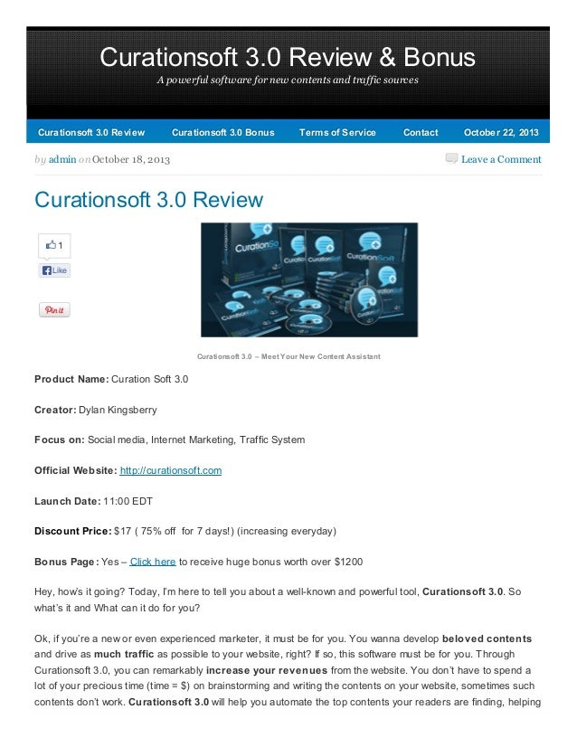 Curationsoft 3.0 Review & Bonus A powerful software for new contents and traffic sources  Curationsoft 3.0 Review  Curatio...