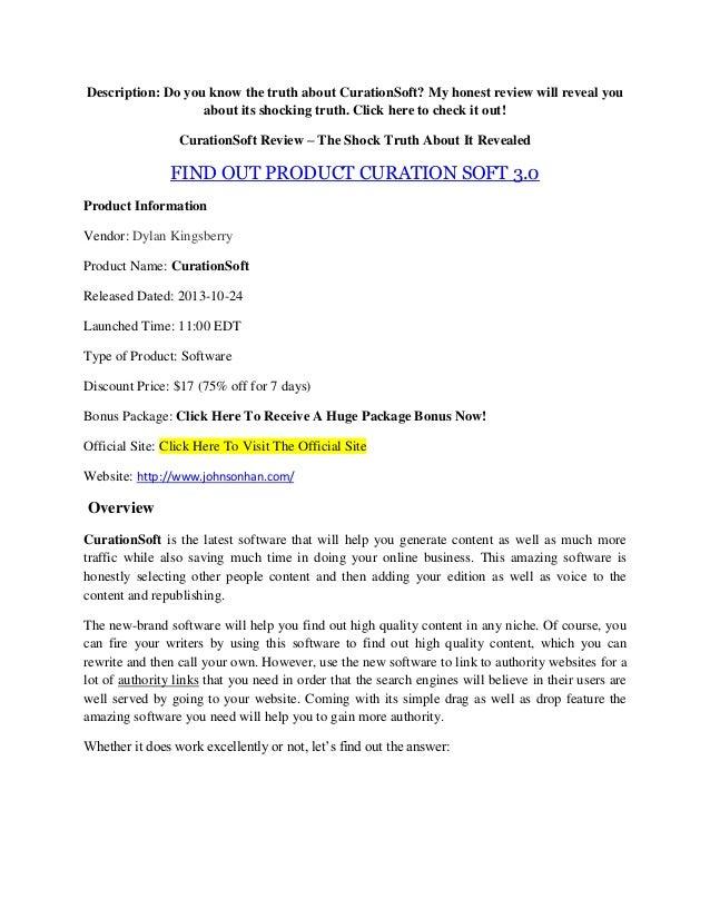 Curation soft review - bonus