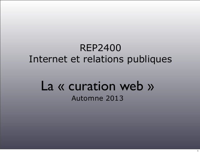 Curation web 2013