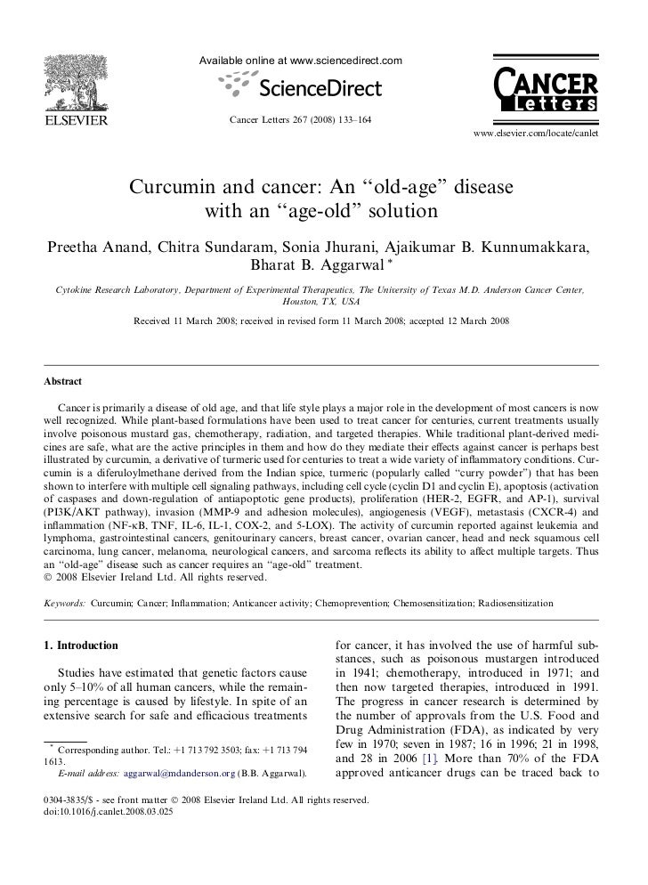 Available online at www.sciencedirect.com                                             Cancer Letters 267 (2008) 133–164   ...