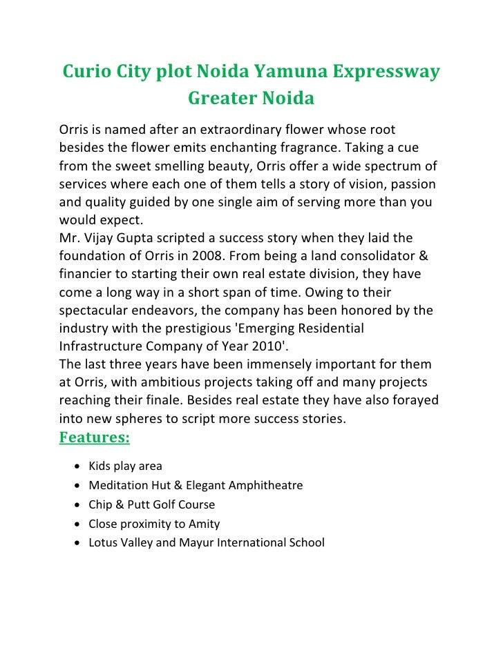 Curio city plot noida yamuna expressway greater noida 9540009070