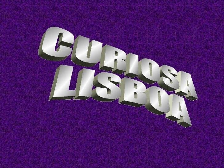 Curiosa Lisboa