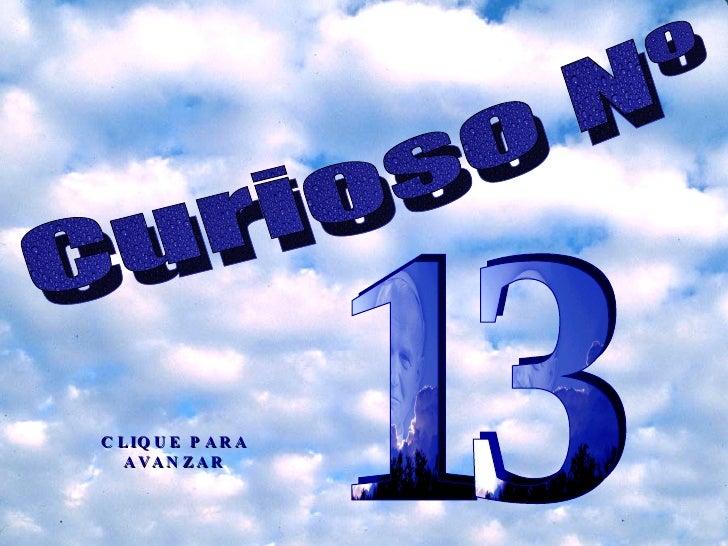 Curioso el numero 13