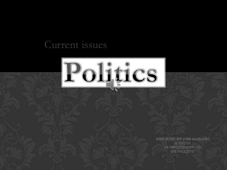 essays on recent political issues