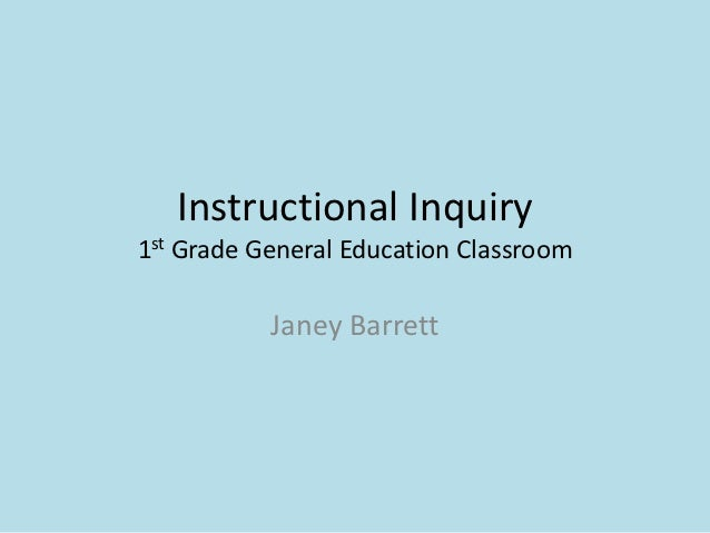 Janey Barrett Instructional Inquiry