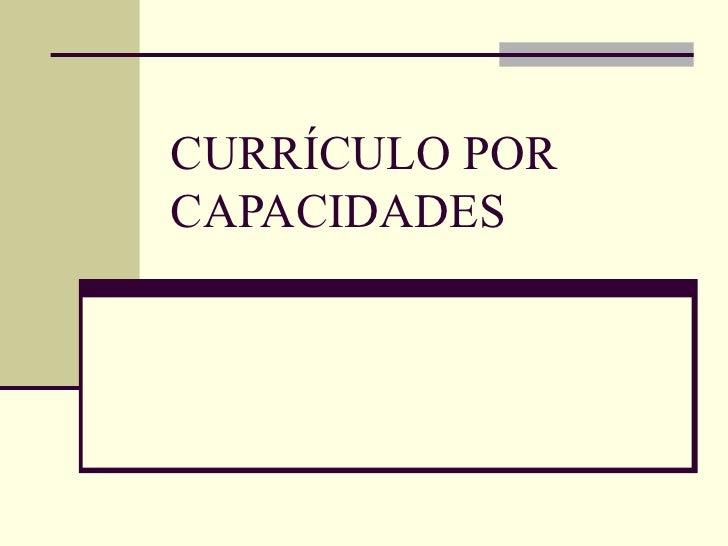 Currículo por capacidades