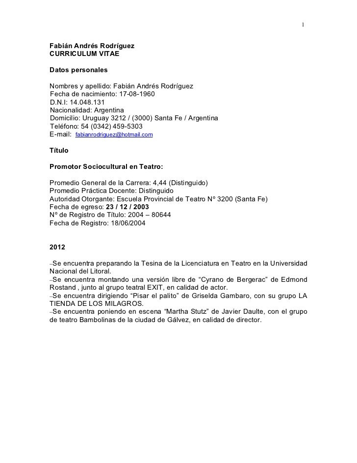 Currículum 2011 fabián