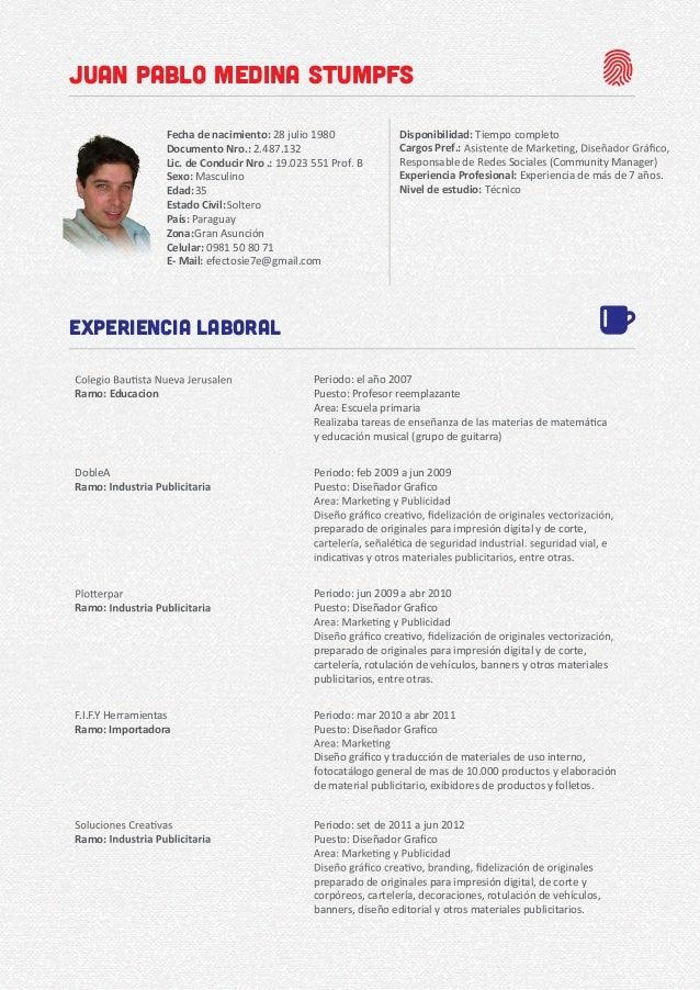 Disponibilidad: Cargos Pref.: Responsable de Redes Sociales (Community Manager) Experiencia Profesional: Experiencia de má...