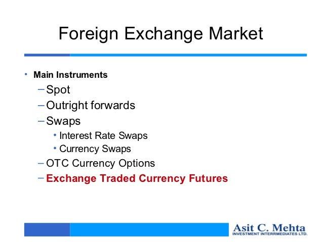 Swap deal in forex market