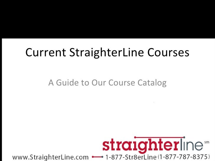 StraighterLine Course Catalog