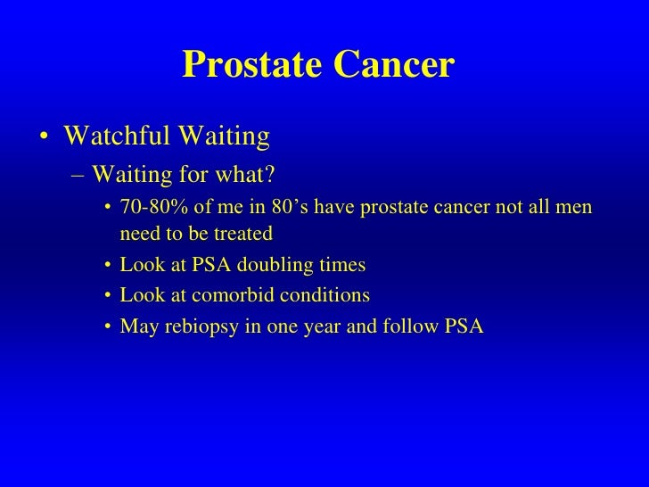 Current Diagnosis And Management Of Prostate Cancer