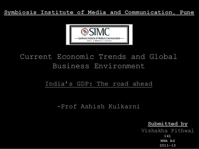 Current economic trends and global business environment (vishakha pithwal)