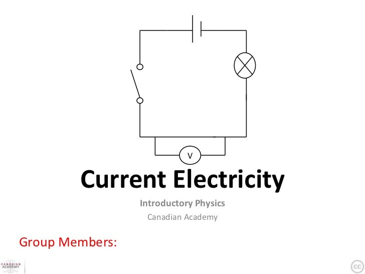 Current Electricity Student Workbook