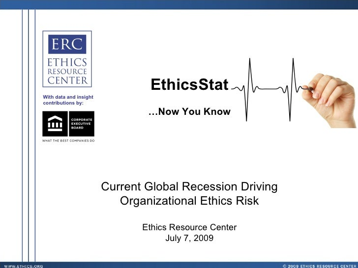 EthicsStat With data and insight contributions by:                                  …Now You Know                         ...
