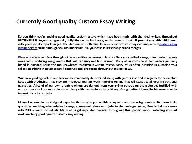 Effective college entrance essays
