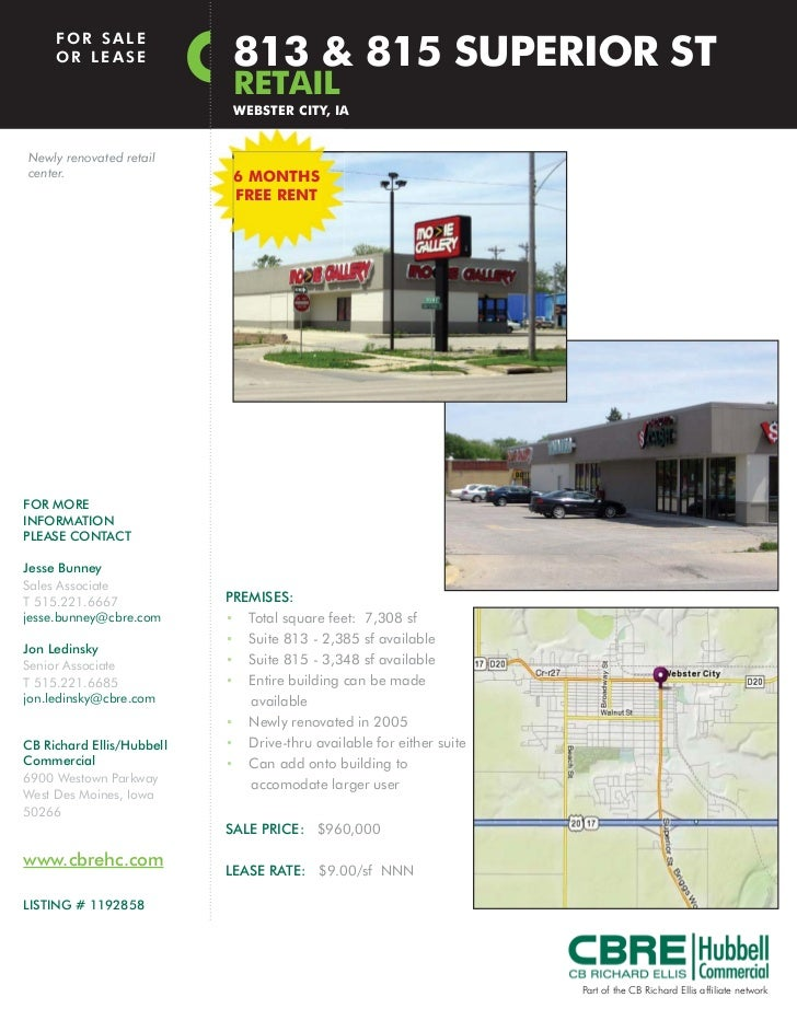 FOR SALE     OR LEASE               813 & 815 SUPERIOR ST                            RETAIL                            WEB...