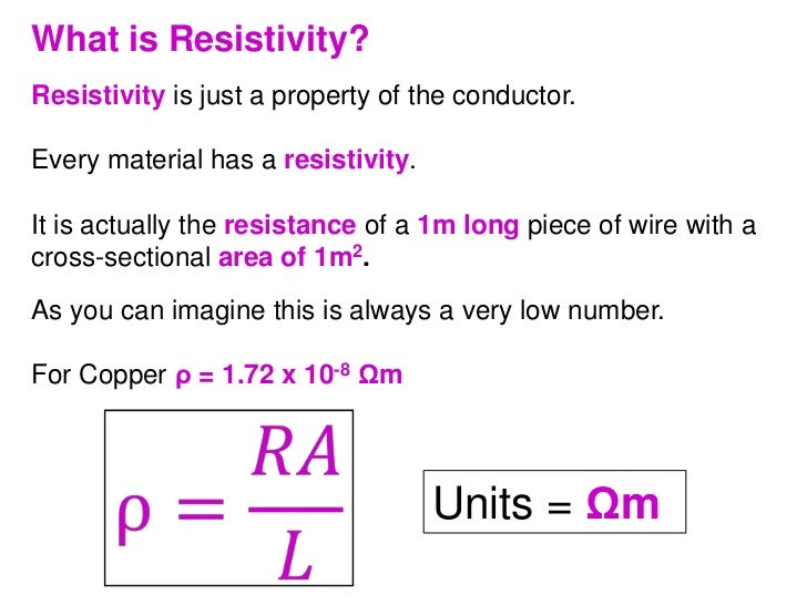 resistance in a conductor Start studying electric currents learn vocabulary, terms, and more with flashcards, games, and other study tools resistance and length of a conductor are.