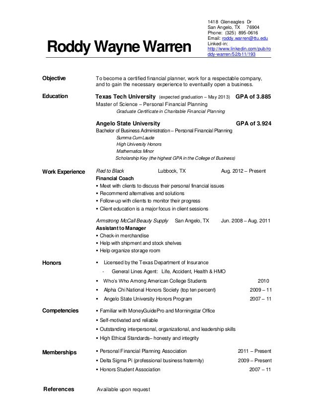 Examples Of Current Resumes - Template