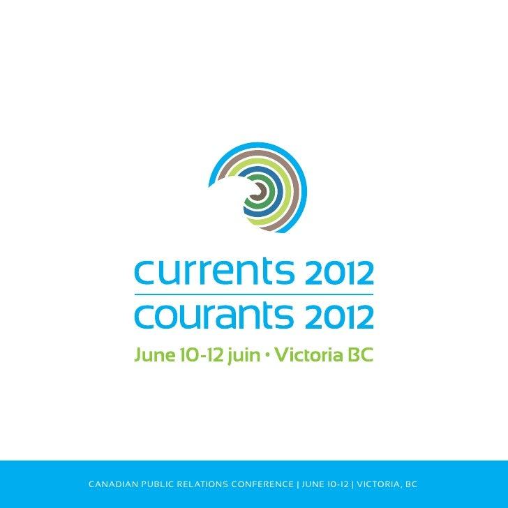 Currents 2012 program brochure