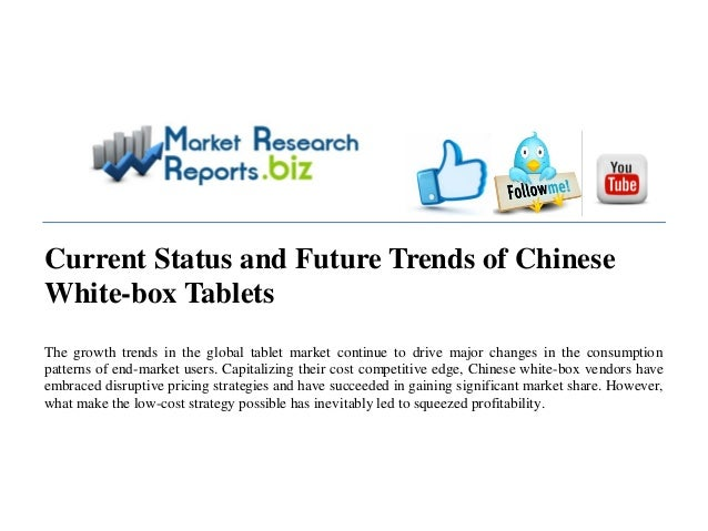 MRRBIZ : Chinese White-box Tablets Current Status and Future Trends