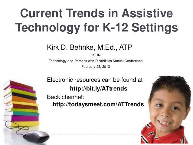 Current trends k12