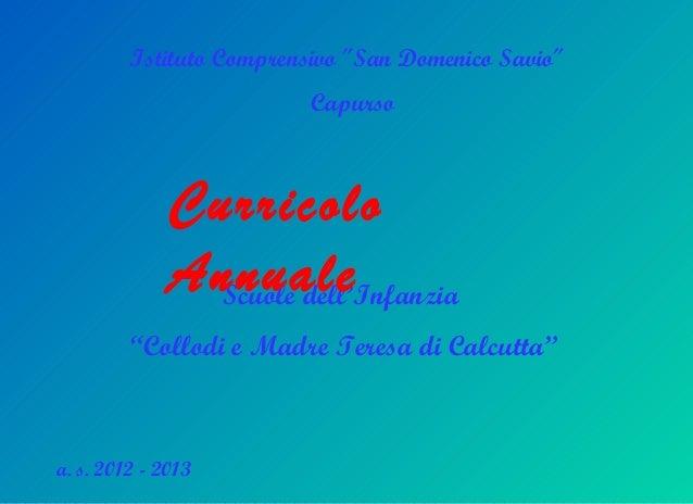Istituto Comprensivo ″San Domenico Savio″                          Capurso              Curricolo              Annuale    ...