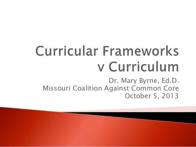 Curricular frameworks