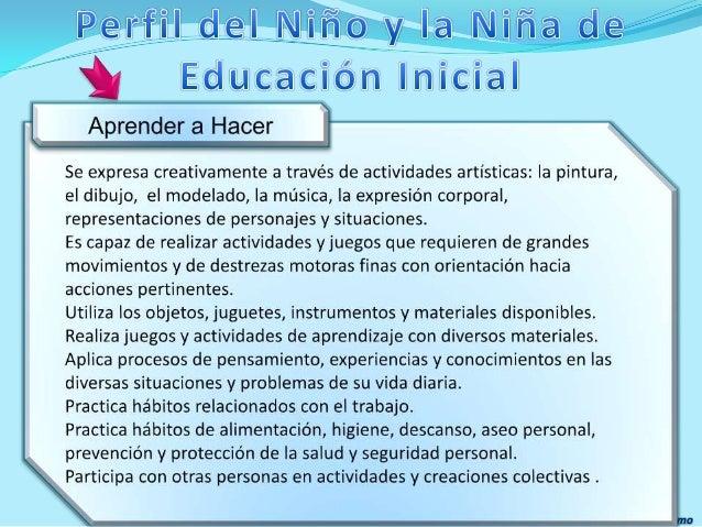 Curr culo de educaci n inicial for Nuevo curriculo de educacion inicial