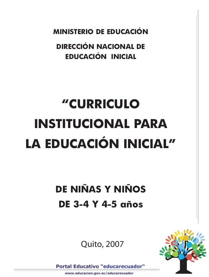 Curriculo para la edu inicial for Diseno curricular educacion inicial