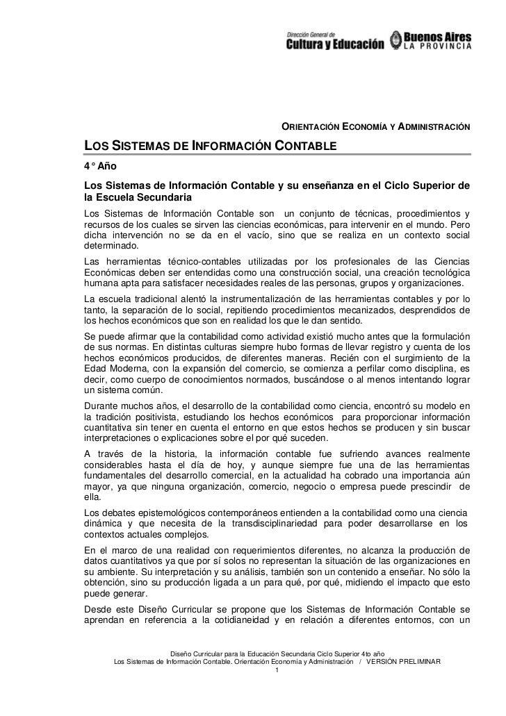 Sistemas de información contable 1. Lineamientos curriculares