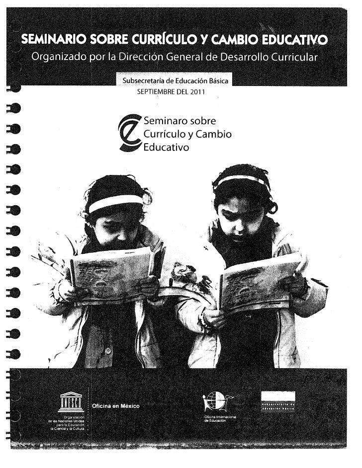 Curriculo y cambio educativo