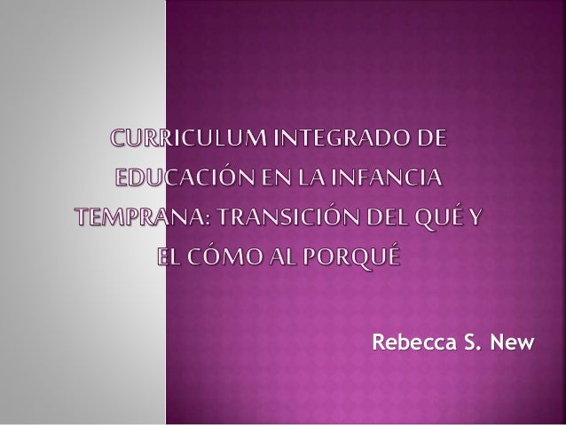 Rebecca S. New