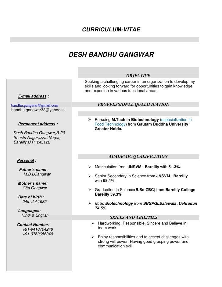 Curriculum desh bandhu