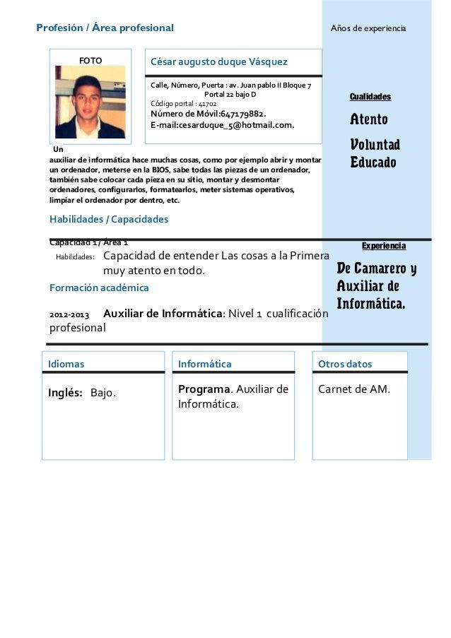 Curriculum vitae modelo 3b azul - Weeksseal.ml