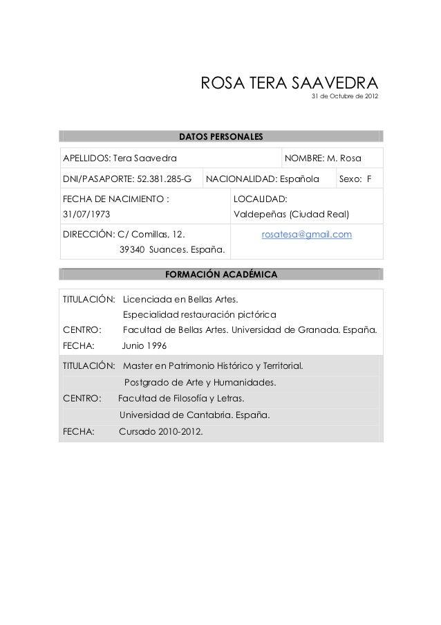 Curriculum 31 octubre