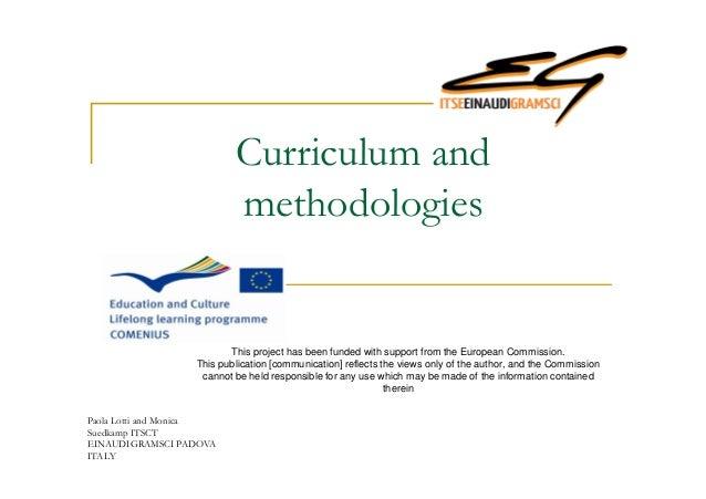Curriculum and methodologies Italy