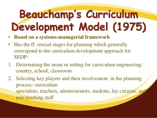 posner on the curriculum development system Posner h ow does one plan a curriculum for many students of curriculum, the   including curriculum development and instructional systems, platforms and.