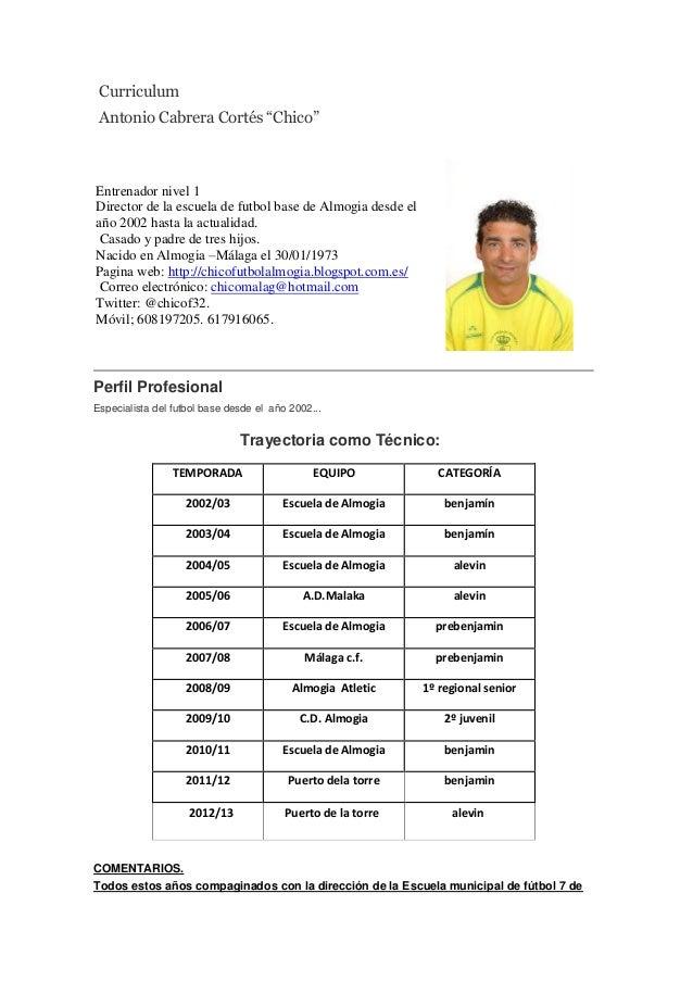 Formato De Curriculum Vitae Deportivo | newhairstylesformen2014.com