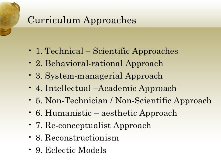 comparing two different approaches of curriculum Curriculum, frameworks and learning standards  in different ways pedagogical approaches are only broadly guided by these countries.