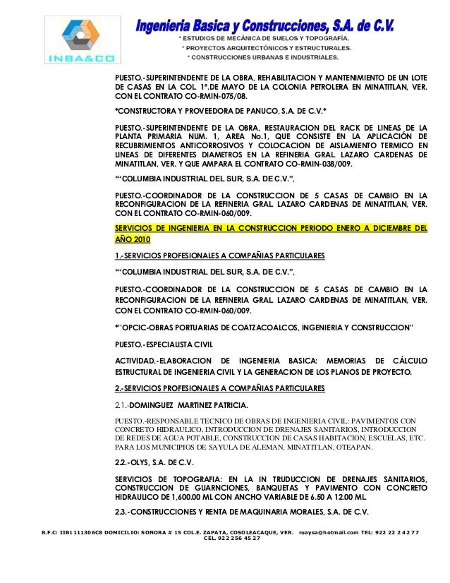 Curriculum vitae de una empresa de servicios - thesis writing help