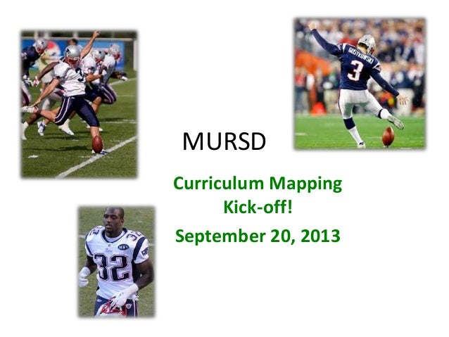 Curriculum Mapping Sept 20, 2013