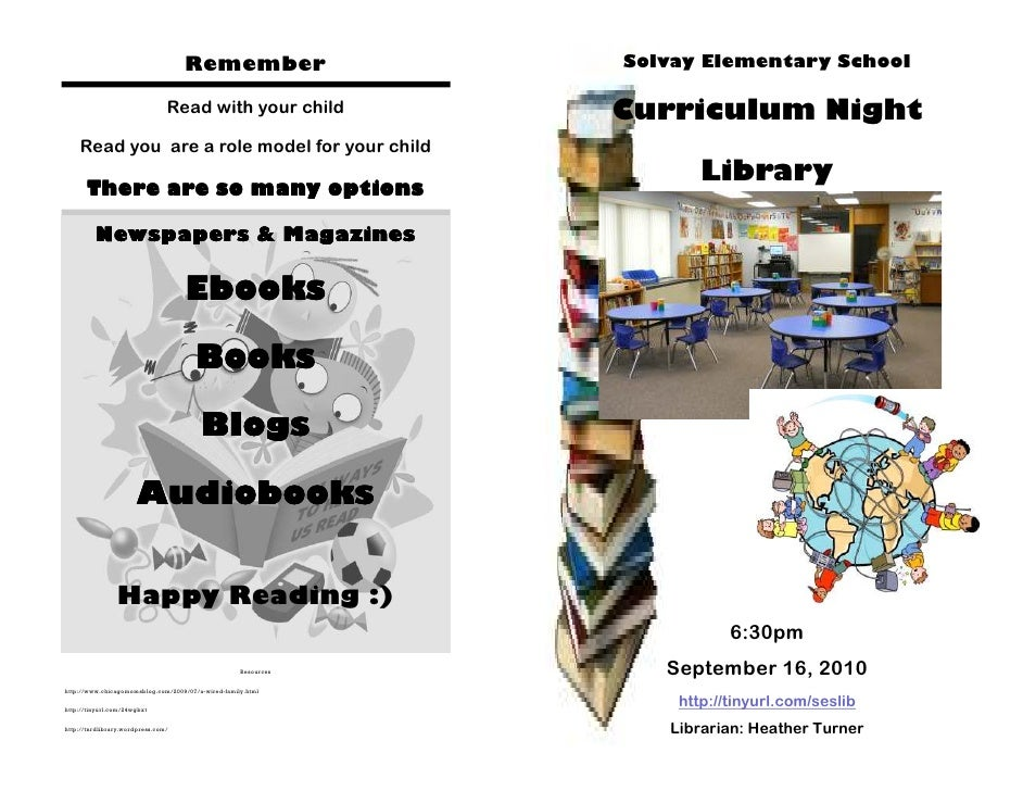 Remember                    Solvay Elementary School                                  Read with your child            Curr...