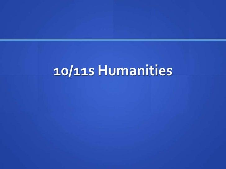 10/11s Humanities