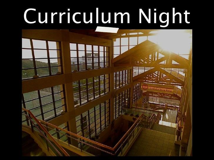 Curriculum night, 2011
