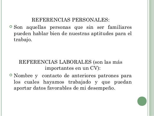 referencias personales para un banco